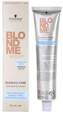 Schwarzkopf Professional Blondme Color creme com cor para tons loiros frios de cabelo 1