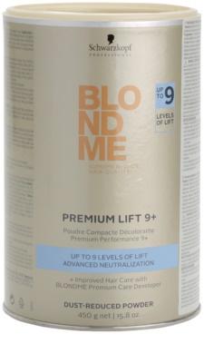Schwarzkopf Professional Blondme Color pudra premium lightening 9+ cu praf redus