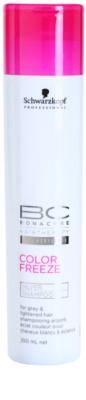 Schwarzkopf Professional BC Bonacure Color Freeze Shampoo mit Silberschimmer für blonde und graue Haare