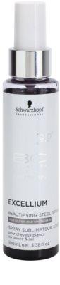 Schwarzkopf Professional BC Bonacure Excellium Beautifying spray com pigmentos de aço para a recuperação das cores do cabelo branco e cinza