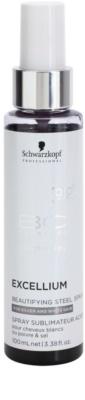 Schwarzkopf Professional BC Bonacure Excellium Beautifying spray con pigmentos metálicos para realzar  y suavizar el tono del cabello blanco y plateado