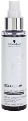 Schwarzkopf Professional BC Bonacure Excellium Beautifying sprej se stříbrnými pigmenty pro oživení a zjemnění barvy  bílých a stříbrných vlasů 1