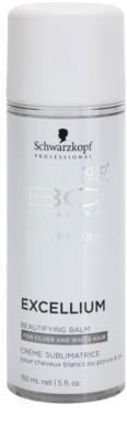 Schwarzkopf Professional BC Bonacure Excellium Beautifying bálsamo embelezador sem enxague para cabelos cinzentos e brancos