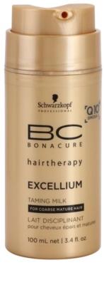 Schwarzkopf Professional BC Bonacure Excellium Taming kisimító tej a hajformázáshoz, melyhez magas hőfokot használunk