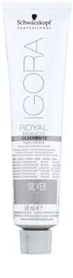 Schwarzkopf Professional IGORA Royal Absolutes SilverWhite tónující demi-permanentní barva na vlasy pro stříbrné a bílé vlasy 1