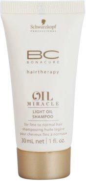 Schwarzkopf Professional BC Bonacure Oil Miracle Marula Oil șampon light pe bază de ulei pentru toate tipurile de par