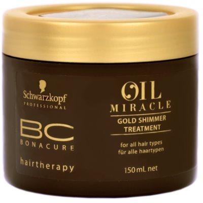 Schwarzkopf Professional BC Bonacure Oil Miracle Argan Oil máscara para todos os tipos de cabelos