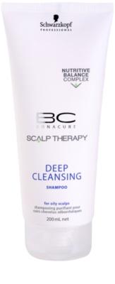 Schwarzkopf Professional BC Bonacure Scalp Therapy champô de limpeza profunda para couro cabeludo oleoso