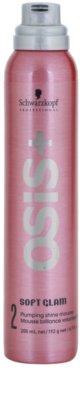 Schwarzkopf Professional Osis+ Soft Glam fixáló hab dús és fényes hajért 1