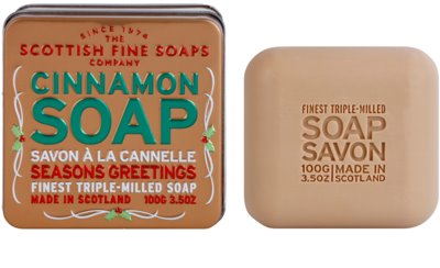 Scottish Fine Soaps Cinnamon luxusní mýdlo v plechové dóze