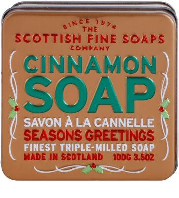 Scottish Fine Soaps Cinnamon Săpun de lux în borcan de metal 2