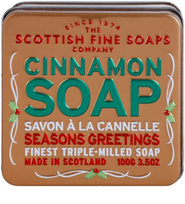 Scottish Fine Soaps Cinnamon luxusné mydlo v plechovej dóze 2