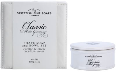 Scottish Fine Soaps Classic Male Grooming milo za britje za moške  v porcelanasti dozi 3