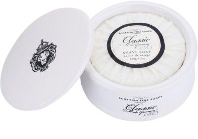 Scottish Fine Soaps Classic Male Grooming sapun pentru barbierit pentru barbati  borcan de porțelan