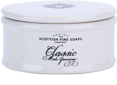 Scottish Fine Soaps Classic Male Grooming milo za britje za moške  v porcelanasti dozi 1