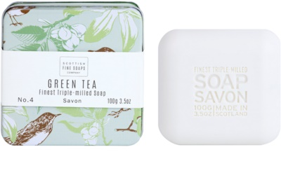 Scottish Fine Soaps Green Tea Sabão luxuoso em frasco de estanho