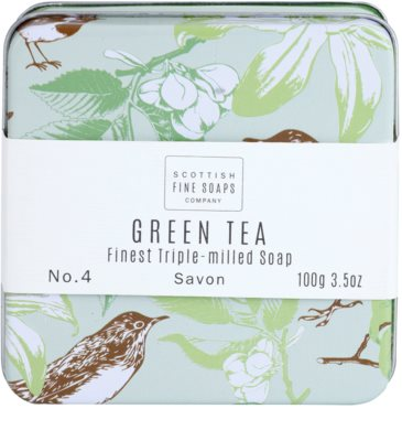 Scottish Fine Soaps Green Tea Pозкішне мило в металевій коробочці 2