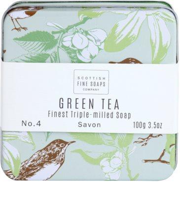 Scottish Fine Soaps Green Tea Luxus szappan fém dobozban 2