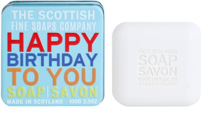 Scottish Fine Soaps Happy Birthday to You luxusní mýdlo v plechové dóze