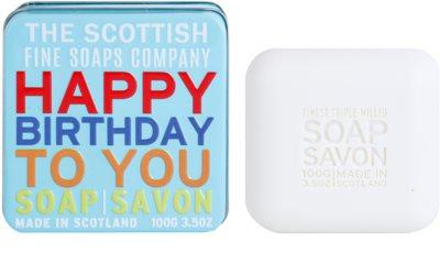 Scottish Fine Soaps Happy Birthday to You Luxusseife mit Blechetui