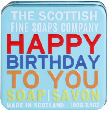 Scottish Fine Soaps Happy Birthday to You luxusní mýdlo v plechové dóze 2
