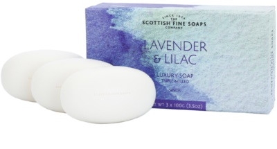 Scottish Fine Soaps Lavender and Lilac jabón 3 uds
