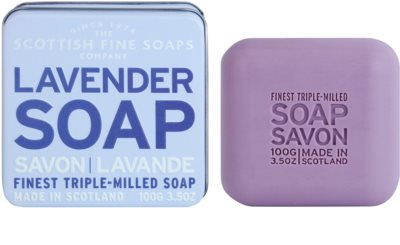 Scottish Fine Soaps Lavender jabón lujoso en frasco metálico