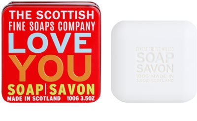 Scottish Fine Soaps Love You Luxus szappan fém dobozban