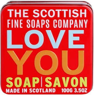 Scottish Fine Soaps Love You Luxus szappan fém dobozban 2