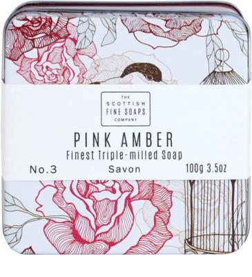 Scottish Fine Soaps Pink Amber Luxusseife mit Blechetui 2