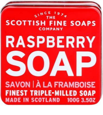 Scottish Fine Soaps Raspberry Sabão luxuoso em frasco de estanho 2