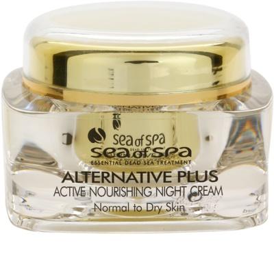 Sea of Spa Alternative Plus nährende Aktivcreme für die Nacht für normale und trockene Haut