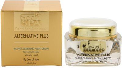 Sea of Spa Alternative Plus nährende Aktivcreme für die Nacht für normale und trockene Haut 2