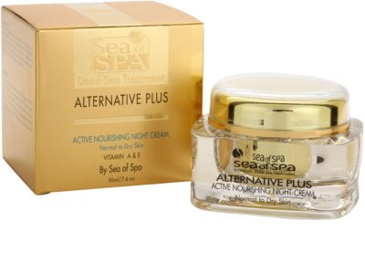 Sea of Spa Alternative Plus nährende Aktivcreme für die Nacht für normale und trockene Haut 3