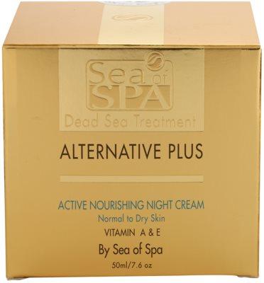 Sea of Spa Alternative Plus nährende Aktivcreme für die Nacht für normale und trockene Haut 4