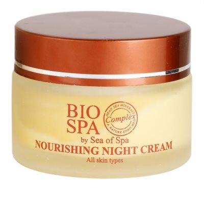 Sea of Spa Bio Spa creme de noite nutritivo para todos os tipos de pele