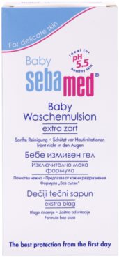 Sebamed Baby Wash velmi jemná mycí emulze na tělo a vlasy 2