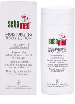 Sebamed Body Care зволожуюче молочко для тіла для чутливої, нормальної та жирної шкіри обличчя 1