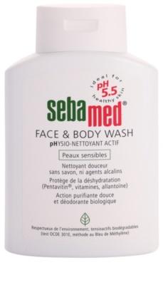 Sebamed Wash Gyengéd tisztító emulzió arcra és testre az érzékeny bőrre