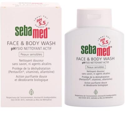 Sebamed Wash Gyengéd tisztító emulzió arcra és testre az érzékeny bőrre 1