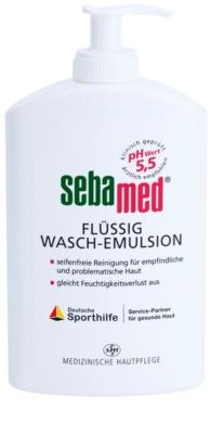Sebamed Wash emulsión limpiadora para rostro y cuerpo de textura suave para pieles sensibles, normales y grasas
