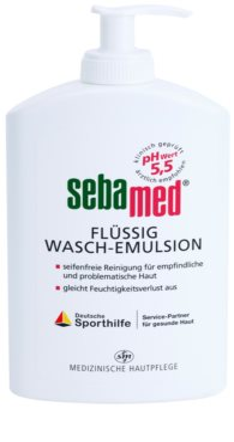 Sebamed Wash loção de lavagem suave para rosto e corpo para pele sensível, normal a oleosa