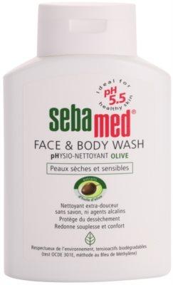 Sebamed Wash нежна миеща емулсиця за тяло и лице с маслинено олио