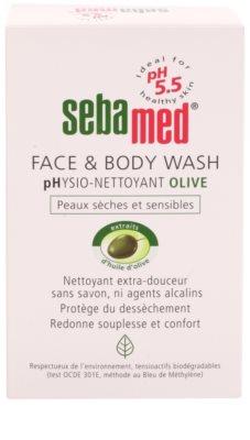 Sebamed Wash emulsión limpiadora para rostro y cuerpo de textura suave con aceite de oliva 2