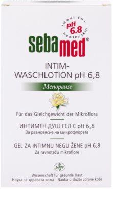 Sebamed Wash emulsão para higiene intima durante a menopausa pH 6,8 2