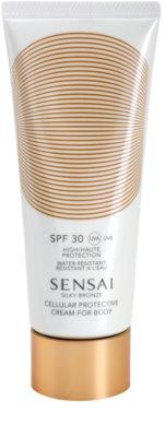 Sensai Silky Bronze crema solar corporal antienvejecimiento SPF 30