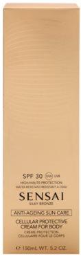 Sensai Silky Bronze крем для засмаги проти старіння шкіри SPF 30 2