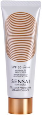 Sensai Silky Bronze creme solar antirrugas SPF 30