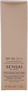 Sensai Silky Bronze creme solar antirrugas SPF 50 2