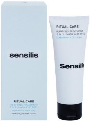 Sensilis Ritual Care очищуюча маска - пілінг 2в1 1